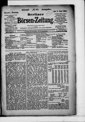 Berliner Börsen-Zeitung vom 02.06.1903