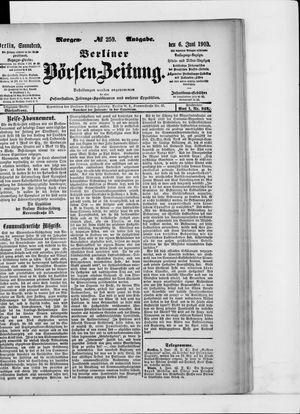 Berliner Börsen-Zeitung vom 06.06.1903