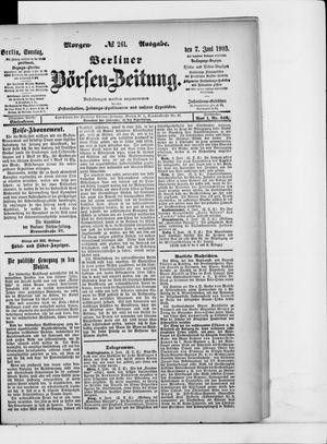 Berliner Börsen-Zeitung vom 07.06.1903