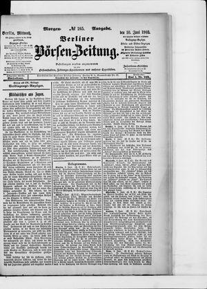 Berliner Börsen-Zeitung on Jun 10, 1903