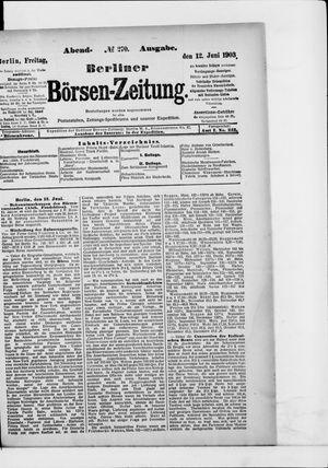 Berliner Börsen-Zeitung vom 12.06.1903