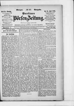 Berliner Börsen-Zeitung vom 14.06.1903