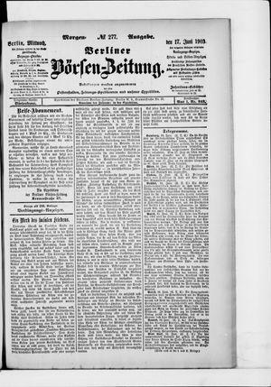 Berliner Börsen-Zeitung vom 17.06.1903