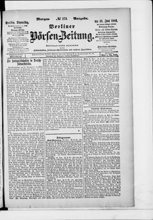 Berliner Börsen-Zeitung vom 18.06.1903