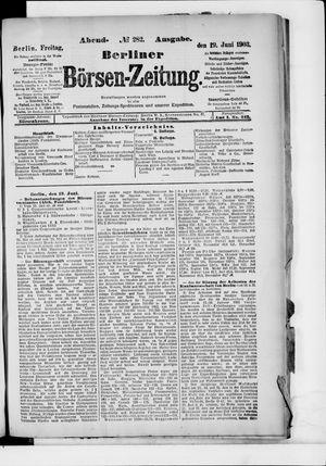 Berliner Börsen-Zeitung vom 19.06.1903