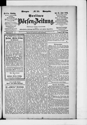 Berliner Börsen-Zeitung vom 21.06.1903