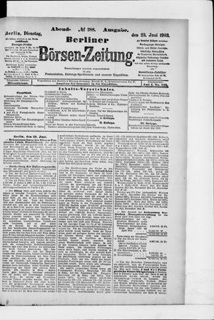 Berliner Börsen-Zeitung vom 23.06.1903