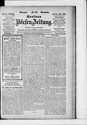 Berliner Börsen-Zeitung vom 24.06.1903