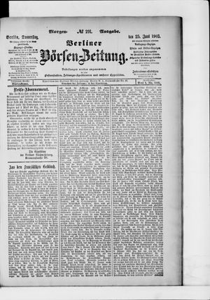Berliner Börsen-Zeitung vom 25.06.1903
