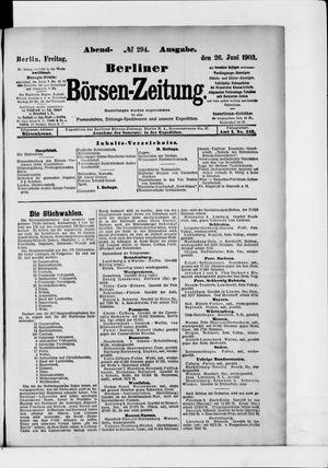 Berliner Börsen-Zeitung vom 26.06.1903