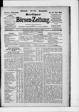 Berliner Börsen-Zeitung vom 27.06.1903