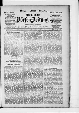Berliner Börsen-Zeitung vom 28.06.1903