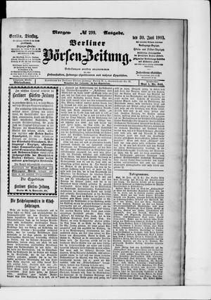 Berliner Börsen-Zeitung vom 30.06.1903