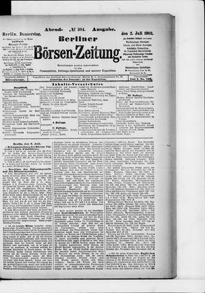 Berliner Börsen-Zeitung vom 02.07.1903