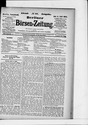 Berliner Börsen-Zeitung vom 04.07.1903