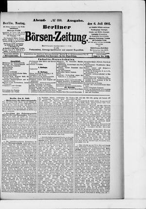 Berliner Börsen-Zeitung on Jul 6, 1903