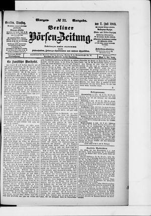 Berliner Börsen-Zeitung vom 07.07.1903
