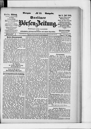 Berliner Börsen-Zeitung vom 08.07.1903