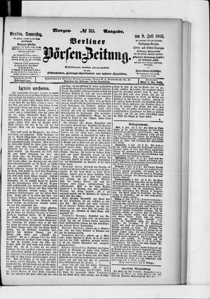 Berliner Börsen-Zeitung vom 09.07.1903