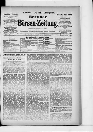 Berliner Börsen-Zeitung vom 10.07.1903