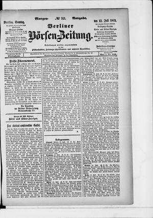 Berliner Börsen-Zeitung vom 12.07.1903