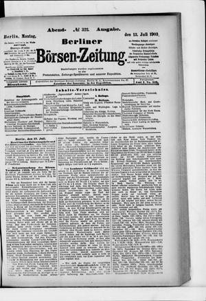 Berliner Börsen-Zeitung vom 13.07.1903