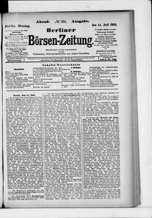 Berliner Börsen-Zeitung vom 14.07.1903