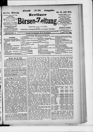 Berliner Börsen-Zeitung vom 15.07.1903
