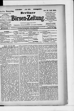 Berliner Börsen-Zeitung on Jul 16, 1903