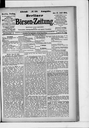 Berliner Börsen-Zeitung vom 17.07.1903