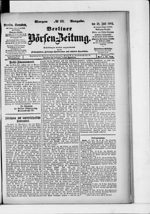 Berliner Börsen-Zeitung vom 18.07.1903