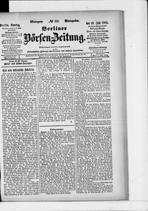 Berliner Börsen-Zeitung on Jul 19, 1903