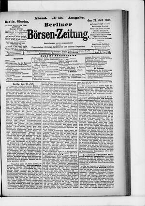 Berliner Börsen-Zeitung vom 21.07.1903
