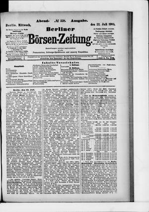 Berliner Börsen-Zeitung vom 22.07.1903