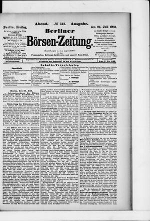 Berliner Börsen-Zeitung vom 24.07.1903