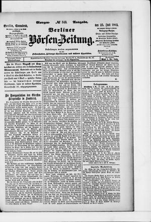 Berliner Börsen-Zeitung vom 25.07.1903