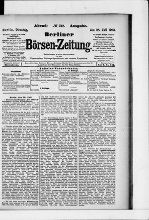 Berliner Börsen-Zeitung vom 28.07.1903