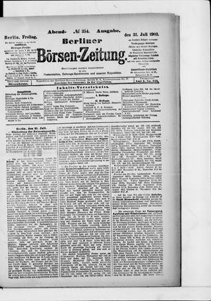 Berliner Börsen-Zeitung vom 31.07.1903