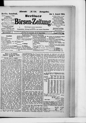 Berliner Börsen-Zeitung vom 01.08.1903