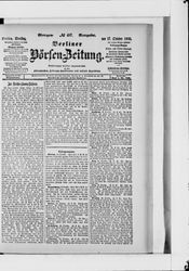 Berliner Börsen-Zeitung (17.10.1905)