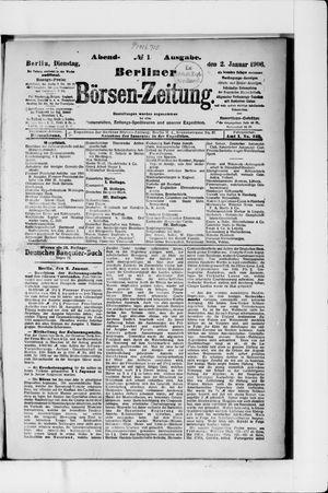 Berliner Börsen-Zeitung vom 02.01.1906