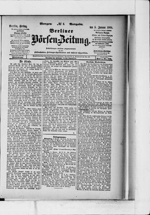 Berliner Börsen-Zeitung vom 05.01.1906