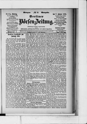 Berliner Börsen-Zeitung on Jan 7, 1906