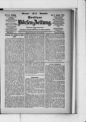 Berliner Börsen-Zeitung vom 09.01.1906