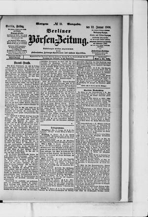 Berliner Börsen-Zeitung vom 12.01.1906