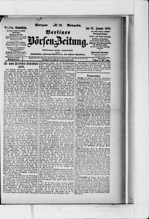 Berliner Börsen-Zeitung vom 13.01.1906