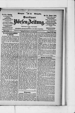 Berliner Börsen-Zeitung vom 14.01.1906