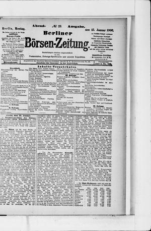 Berliner Börsen-Zeitung vom 15.01.1906