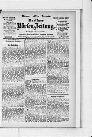 Berliner Börsen-Zeitung vom 17.01.1906
