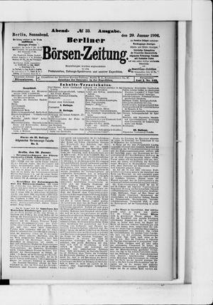 Berliner Börsen-Zeitung vom 20.01.1906
